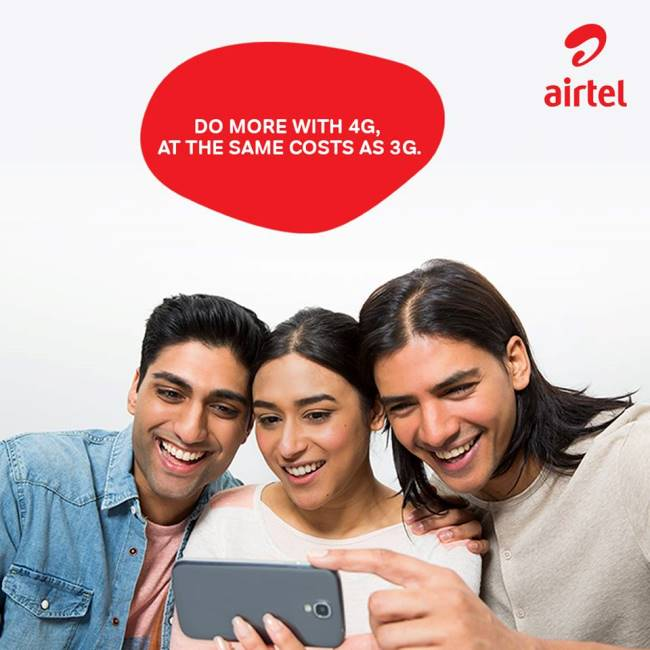 Airtel 293 Plan - Unlimited Airtel to Airtel 1GB Data Daily 84 days