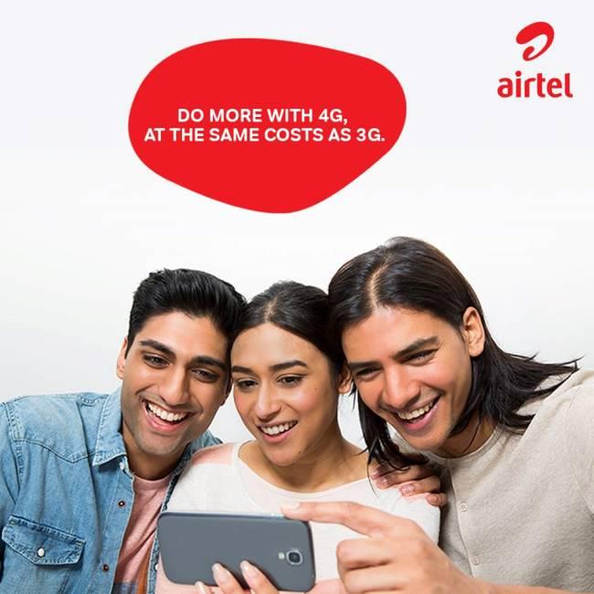 Airtel 293 Plan - Unlimited Airtel to Airtel 1GB Data Daily 84 days