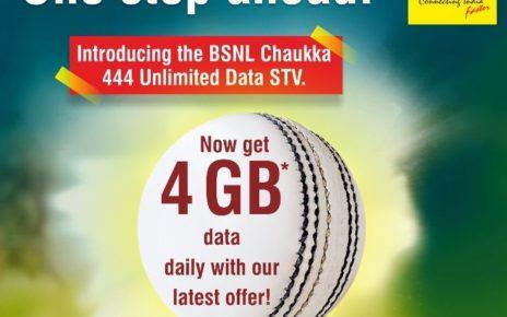 BSNL Chauka 444 2017 4G Data Per Day