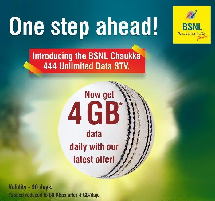 BSNL Chauka 444 - BSNL 444 Data Plan Offer