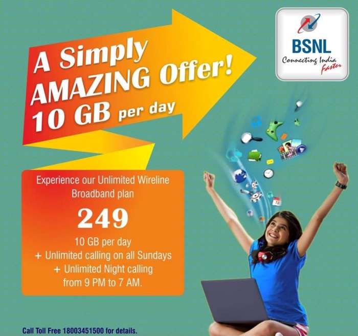 BSNL Unlimited BB249 & LL49 Extended till 30th September
