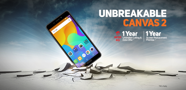 Micromax Canvas 2 2017 Airtel Unlimited Offer 2017