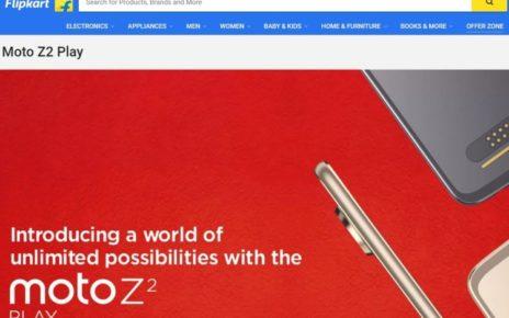 Moto Z2 Play Flipkart