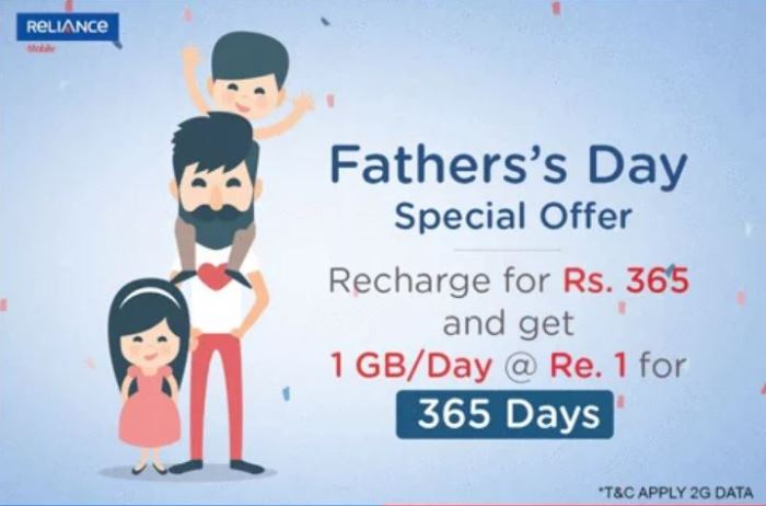 Reliance launches Yearly Data Pack, offering 1GB data day for Rs. 1