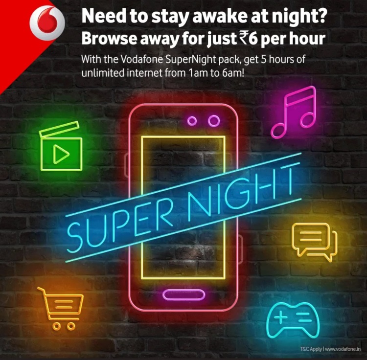 Vodafone Night Internet Pack Unlimited 2017 - Unlimited Night USSD Code
