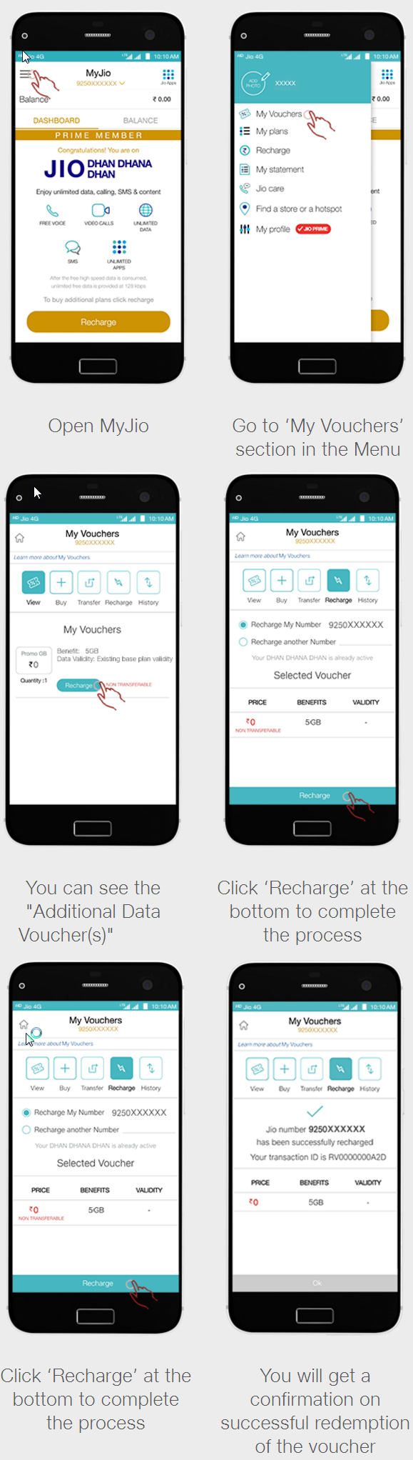 Activate Reliance Jio Extra Data Offer
