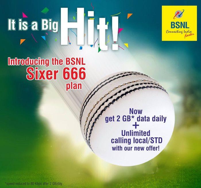 BSNL 666 Plan Sixer 2017