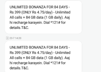 Idea Plan 84 days 84 GB 399