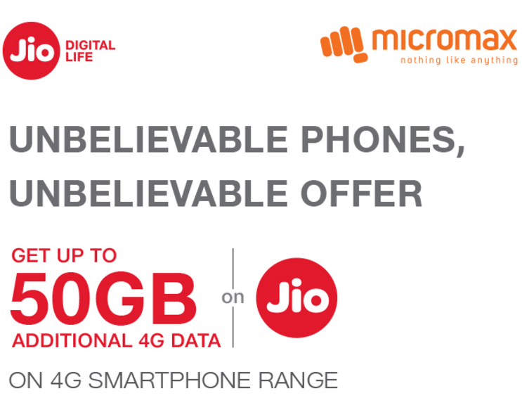Jio Micromax Extra Data Offer