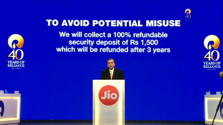 Jio Phone Security Deposit Refud