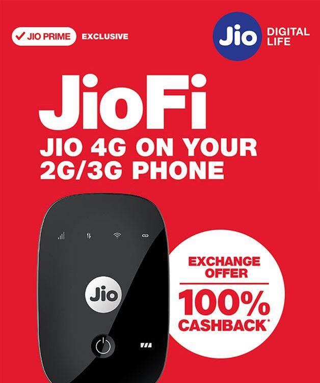 JioFi Cashback Offer Details Full Info July 2017