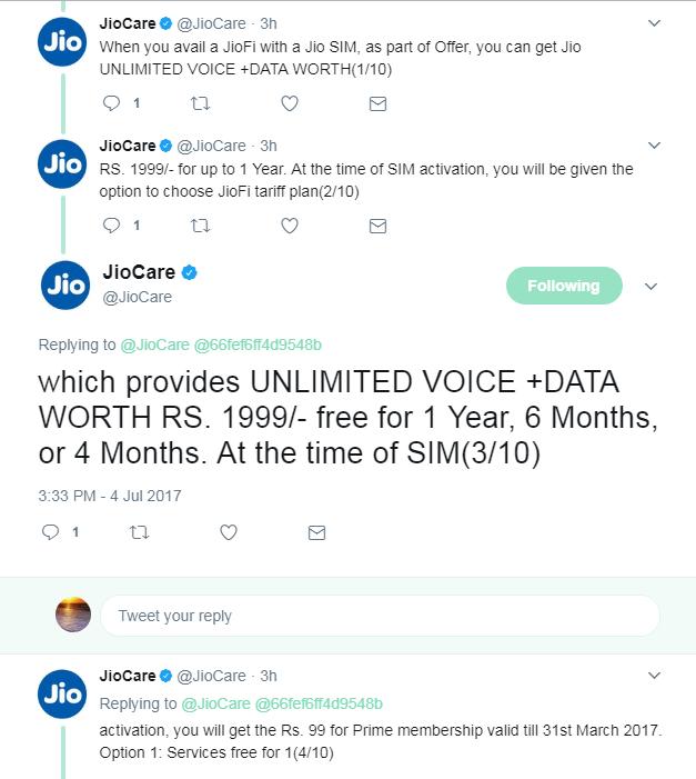 JioFi Cashback Offer July 2017