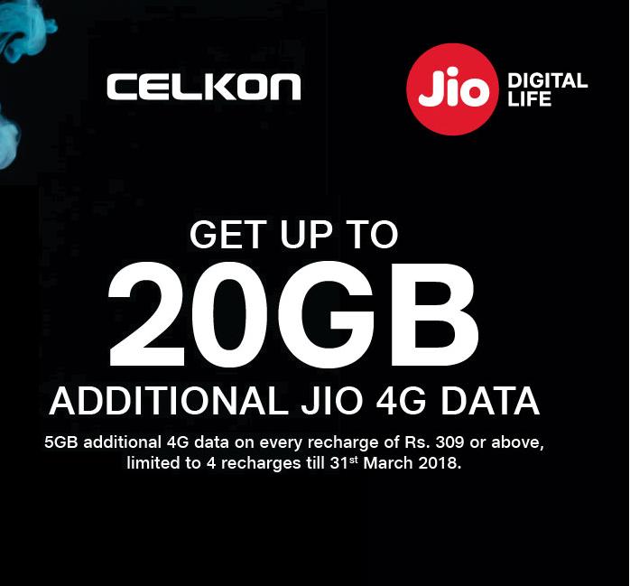 Reliance Jio Celkon Extra Data Offer