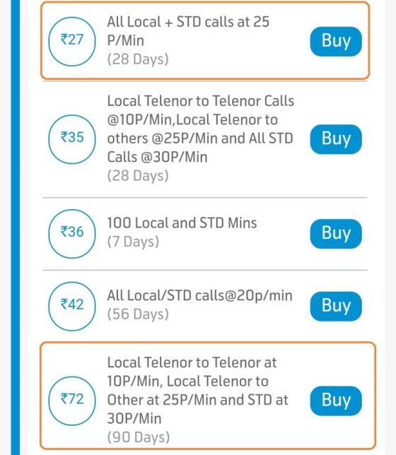 Telenor Value Pack UP East