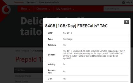 Vodafone 401 Plan