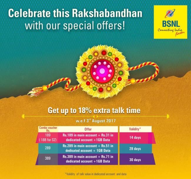 BSNL Raksha Bandhan Offer