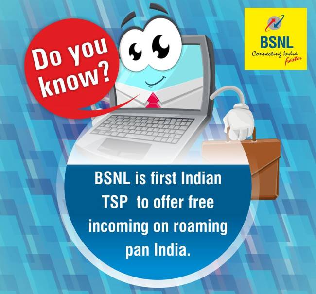 BSNL Roaming FREE All Over India